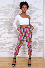 Load image into Gallery viewer, AFESAH AFRICAN PRINT WOMEN'S CARGO PANT - KEJEO DESIGNS