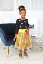 AKANI AFRICAN PRINT GIRLS' FLARED TULLE SKIRT - KEJEO DESIGNS
