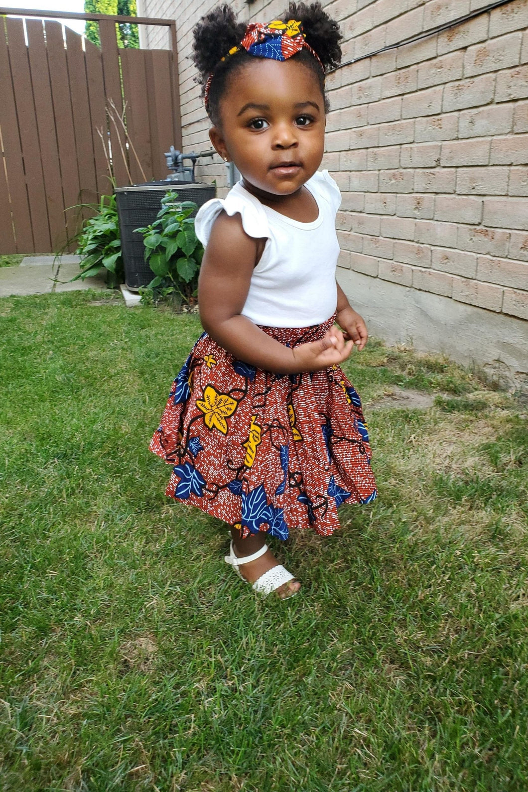 AKANI AFRICAN PRINT GIRLS' SKIRT - KEJEO DESIGNS