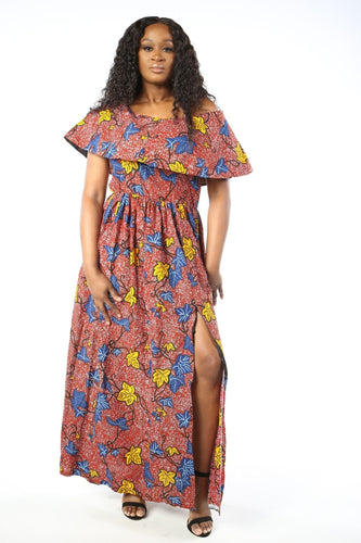 AKANI African Print Women's Dress (Maxi) - KEJEO DESIGNS
