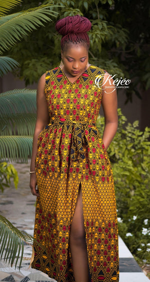 Load image into Gallery viewer, ALIDA African Print dress DRESS KEJEO