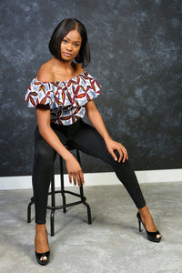 ALTEA African Print Crop Top TOP KEJEO