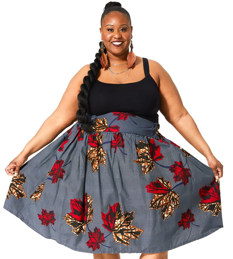 Load image into Gallery viewer, AMAN II African Print Midi Skirt SKIRT KEJEO