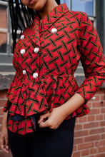 Load image into Gallery viewer, AREBA AFRICAN PRINT WOMEN'S BLAZER - KEJEO DESIGNS