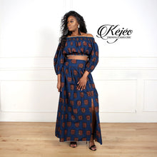 Load image into Gallery viewer, ASANA African Print Maxi Skirt SKIRT KEJEO