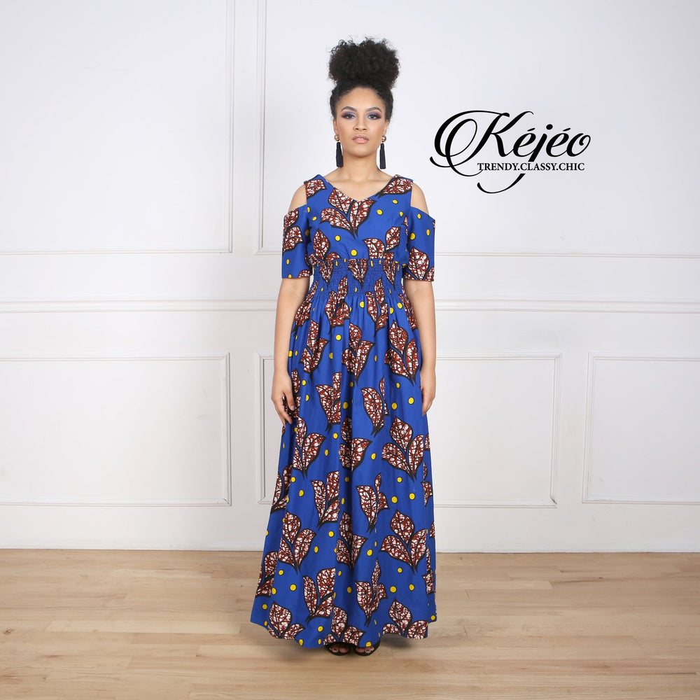 Load image into Gallery viewer, AUDREY African Print Women's Dress - KEJEO DESIGNS
