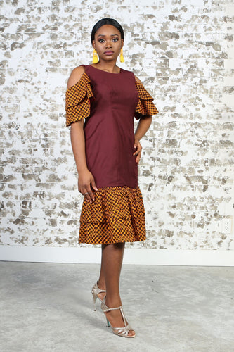 BENITA AFRICAN PRINT WOMEN'S DRESS - KEJEO DESIGNS