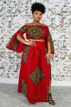 Load image into Gallery viewer, BILIANA African Print Maxi Skirt TOP KEJEO