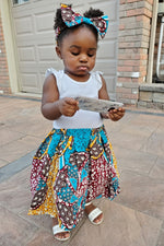 BINTOU AFRICAN PRINT GIRLS' SKIRT - KEJEO DESIGNS
