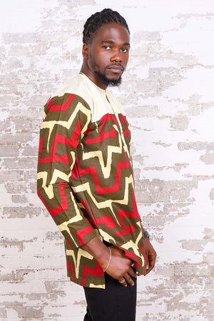 Load image into Gallery viewer, BONAVENTURE AFRICAN PRINT MEN'S SHIRT - KEJEO DESIGNS