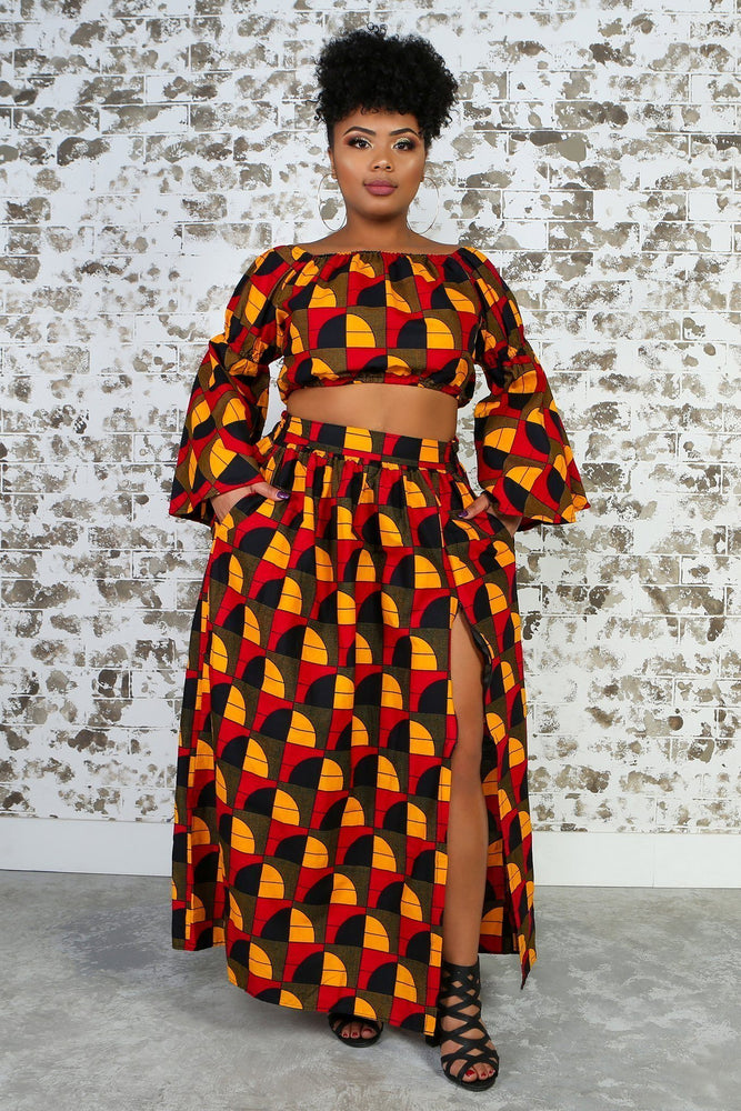CHIZA African Print Crop Top TOP KEJEO