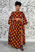 Load image into Gallery viewer, CHIZA African Print Crop Top TOP KEJEO