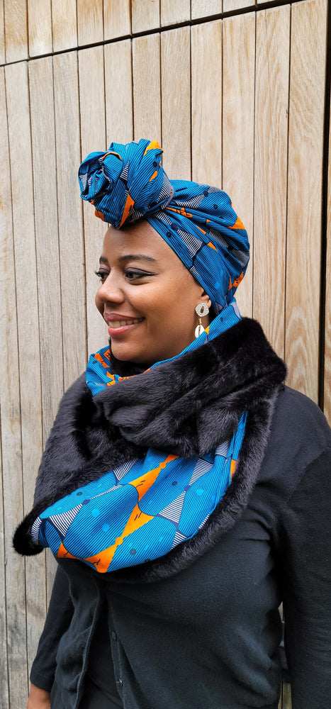 Load image into Gallery viewer, DENAYI AFRICAN PRINT HEADWRAP - KEJEO DESIGNS
