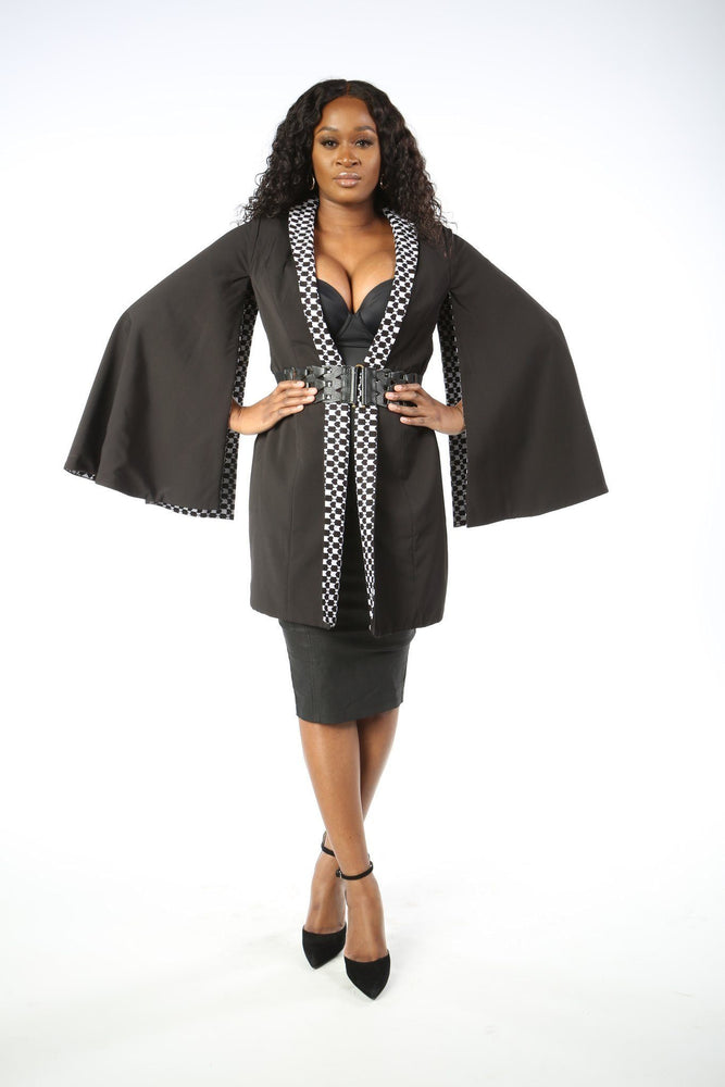 Load image into Gallery viewer, DESIRE II African Print Reversible Cape Jacket VEST KEJEO