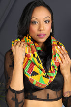 Load image into Gallery viewer, EKENA AFRICAN PRINT UNISEX ADULTS' INFINITY NECK SCARF - KEJEO DESIGNS