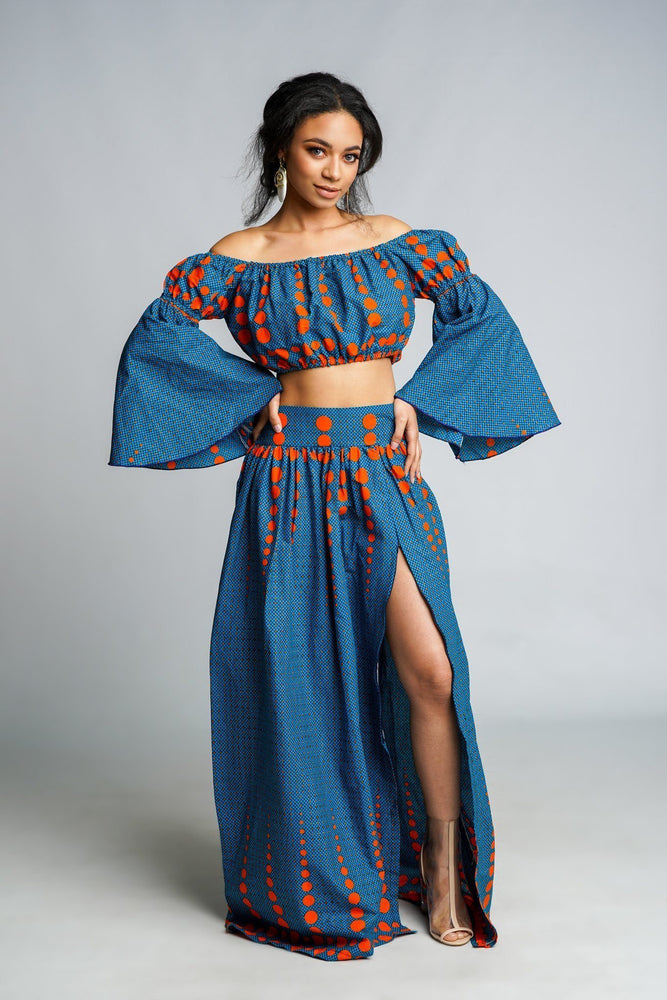Load image into Gallery viewer, ELORA African Print Crop Top TOP KEJEO