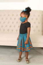 ELORA AFRICAN PRINT GIRLS' SKIRT - KEJEO DESIGNS