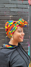 Load image into Gallery viewer, ENOWA AFRICAN PRINT HEADWRAP - KEJEO DESIGNS