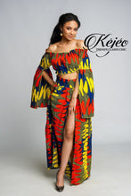 Load image into Gallery viewer, ESSUM African Print Crop Top TOP KEJEO