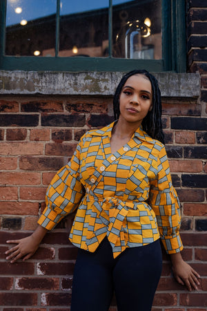 Load image into Gallery viewer, EZENA AFRICAN PRINT WOMEN'S BLAZER - KEJEO DESIGNS