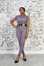 FARIA I African Print jumpsuit - KEJEO DESIGNS