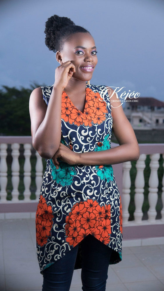 Load image into Gallery viewer, FATOU African Print Vest VEST KEJEO