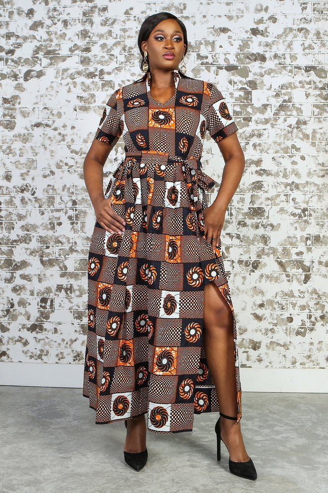 GLORIA African Print Dress DRESS KEJEO