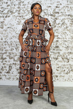 Load image into Gallery viewer, GLORIA African Print Dress DRESS KEJEO