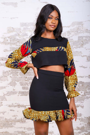 Load image into Gallery viewer, IMIRA AFRICAN PRINT WOMEN'S MINI SKIRT - KEJEO DESIGNS