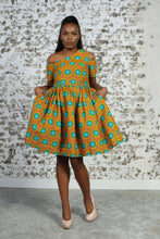 Load image into Gallery viewer, JENI AFRICAN PRINT WOMEN'S MINI DRESS - KEJEO DESIGNS