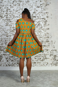 JENI AFRICAN PRINT WOMEN'S MINI DRESS - KEJEO DESIGNS