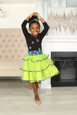 JOY AFRICAN PRINT GIRLS' TIERED TULLE SKIRT - KEJEO DESIGNS