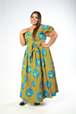 JUNITA African Print Dress - KEJEO DESIGNS