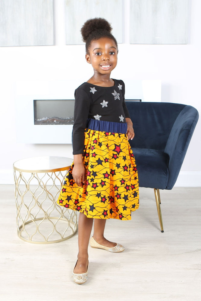 KAFILA AFRICAN PRINT GIRLS' SKIRT - KEJEO DESIGNS