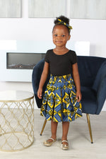 KAMI AFRICAN PRINT GIRLS' SKIRT - KEJEO DESIGNS
