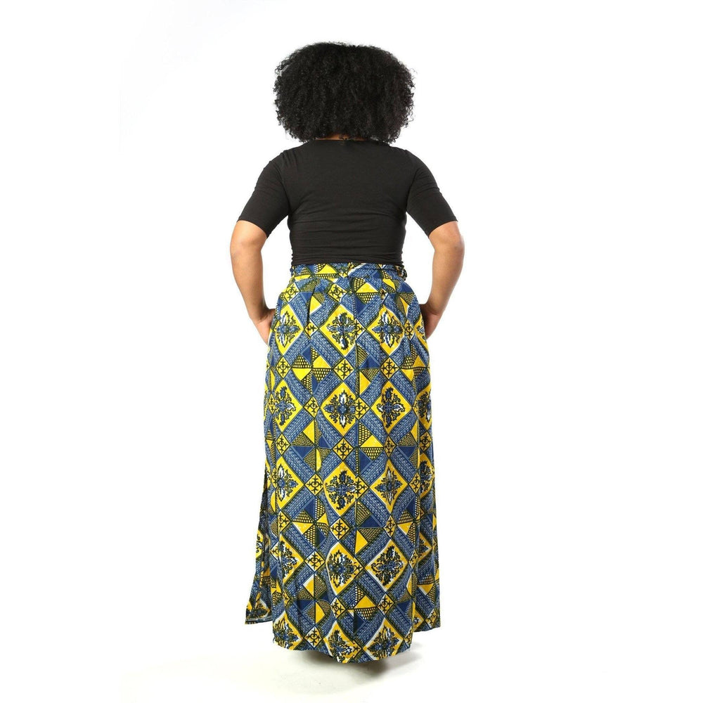 Load image into Gallery viewer, KAMI African Print Maxi Skirt SKIRT KEJEO