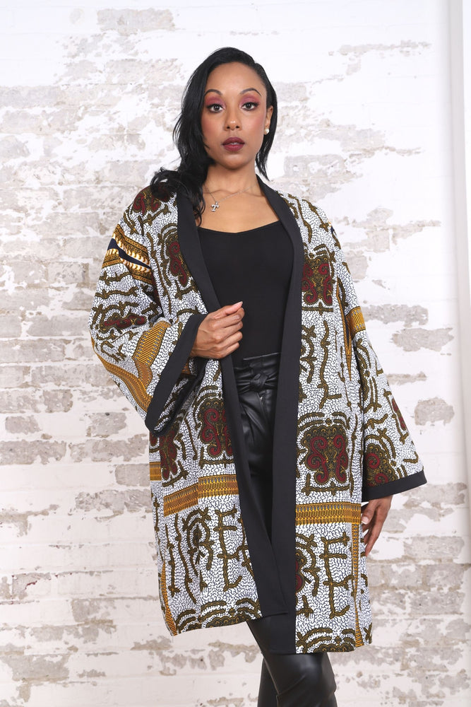 KANDIA AFRICAN PRINT KIMONO WOMEN'S DRESS/TOP - KEJEO DESIGNS