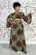 Load image into Gallery viewer, KAZI African Print Crop Top TOP KEJEO