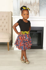 KOSSA AFRICAN PRINT GIRLS' SKIRT - KEJEO DESIGNS