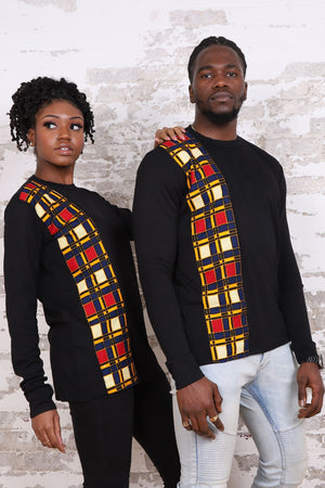Load image into Gallery viewer, KOUAKOU African Print Long Sleeve Unisex Adults' Shirt - KEJEO DESIGNS