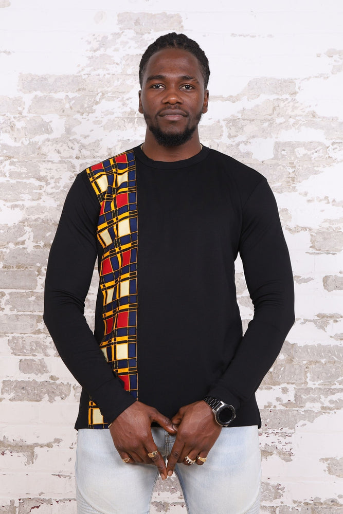 KOUAKOU African Print Long Sleeve Unisex Adults' Shirt - KEJEO DESIGNS