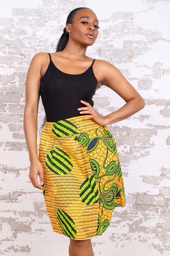 LAURAINE AFRICAN PRINT WOMEN'S MINI SKIRT - KEJEO DESIGNS