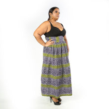 Load image into Gallery viewer, African print maxi skirt for plus size  African print maxi skirt with pockets African print long skirts African skirts African print skirt for women African print skirts for women plus size African print skirts for women with pockets African print skirts for women long length African skirt plus size African long skirt