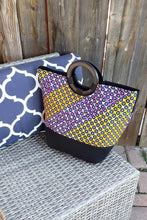 Load image into Gallery viewer, LOUMA AFRICAN PRINT BAG (BLUE NAVY/ORANGE/PURPLE) - KEJEO DESIGNS