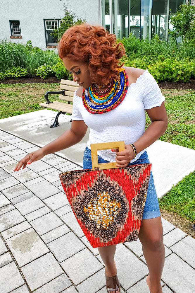 Load image into Gallery viewer, MAGDA African Print Bag - KEJEO DESIGNS