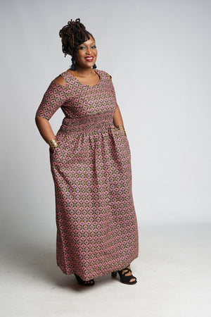 Load image into Gallery viewer, MANO African Print Dress DRESS KEJEO
