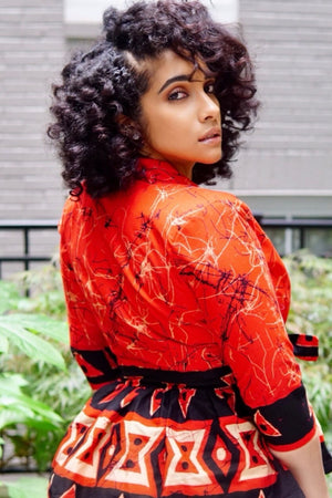 Load image into Gallery viewer, MARIA African Print Peplum Blazer - KEJEO DESIGNS