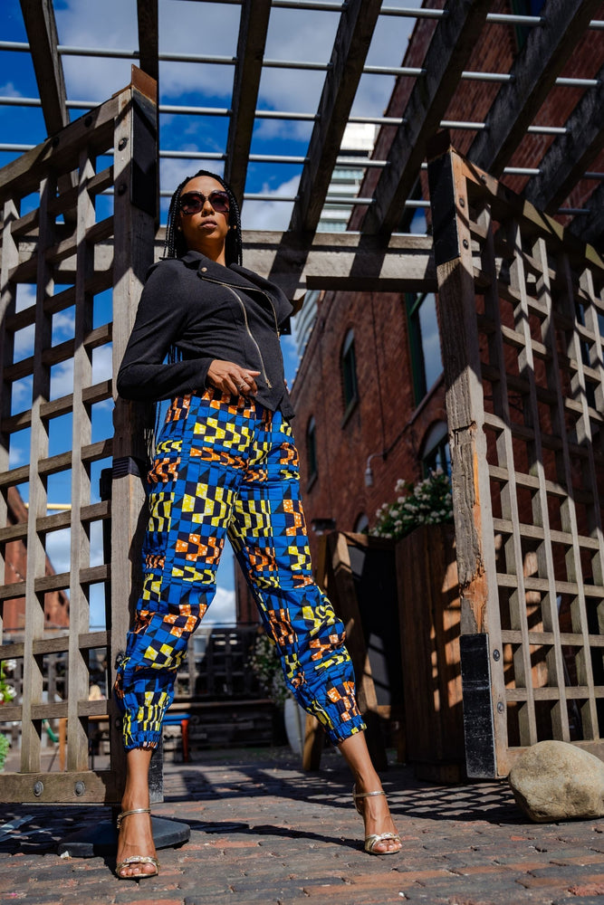 Load image into Gallery viewer, MAZIRA AFRICAN PRINT WOMEN'S CARGO PANT - KEJEO DESIGNS