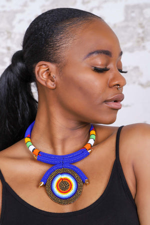 MEBA VI African Beads Necklace - KEJEO DESIGNS