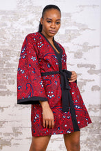Load image into Gallery viewer, MEDETI AFRICAN PRINT KIMONO WOMEN'S DRESS/TOP - KEJEO DESIGNS